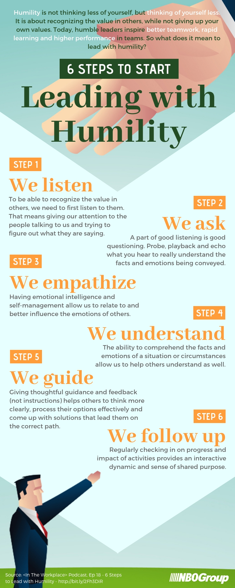 6 Steps to Start Leading with Humility [Infographic]