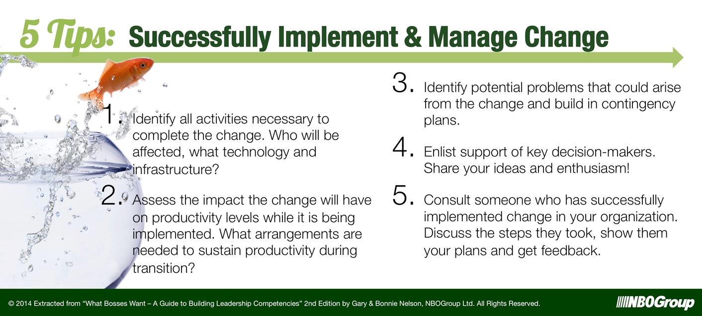 5 Tips to Successfully Implement & Manage Change